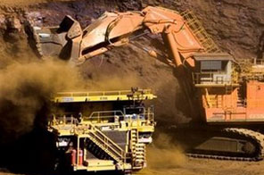 A truck is loaded with iron ore at a Rio Tinto-owned mine in Western Australia's Pilbara region. The Anglo-Australian mining giant has said it is interested in collaborating with Chinalco, months after rejecting a massive cash injection from the state-owned Chinese firm. Source: AFP