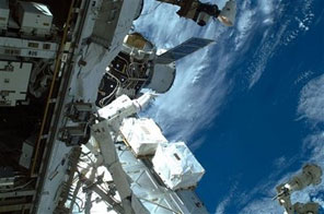 In this Nov, 19, 2009 photo provided by NASA, Astronaut Mike Foreman, STS-129 mission specialist, participates in the mission's first session of extravehicular activity (EVA) as construction and maintenance continue on the International Space Station. Source: AP