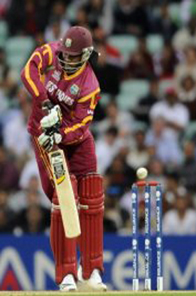 Gayle said he was proud that his team had reached the semi-finals Source: AFP