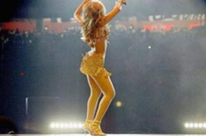 US singer Beyonce Knowles, seen here in Houston, Texas in 2004, once wrote a song celebrating her famous curves while still with Destiny's Child.  Source: AFP