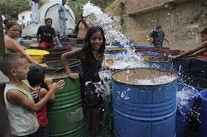 Venezuelans struggling with water shortages Source: AFP