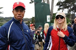 Tiger Woods and his wife Elin Nordegren are pictured in October 2009 in San Francisco. Source: AFP