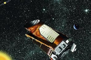 This artists impression of the Kepler spacecraft. Source: AFP