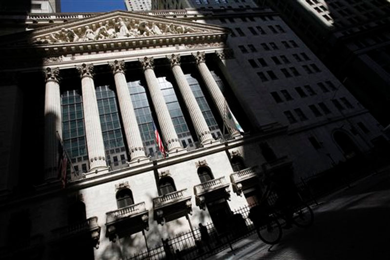 The New York Stock Exchange in New York on July 15, 2013. File photo: AP