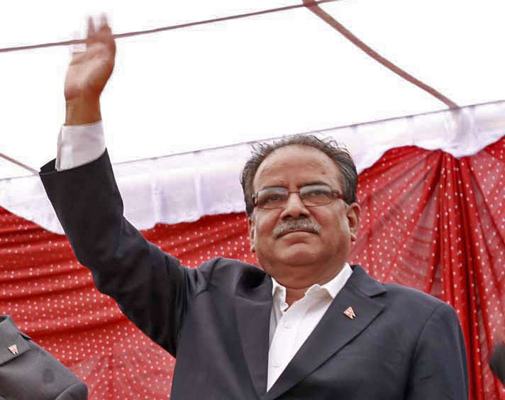 UCPN-Maoist Chairman Pushpa Kamal Dahal special function organised after promulgation of Nepal's Constitution at Tundikhel on Monday, September 21, 2015. Photo: RSS