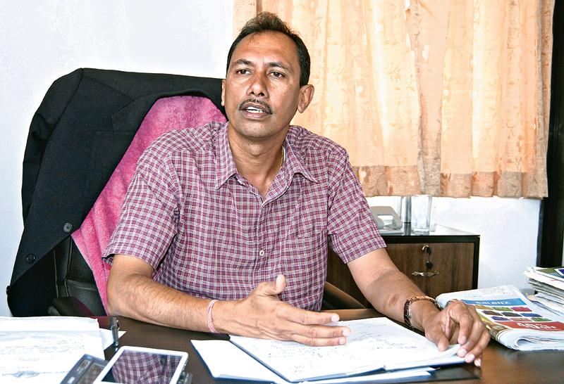 Interview with Babukaji Panta, Executive Eirector, Dairy Development Board at Hariharbhawan pulchowk in Lalitpur on Sunday.  Photo: Balkrishna Thapa Chhetri/ THT
