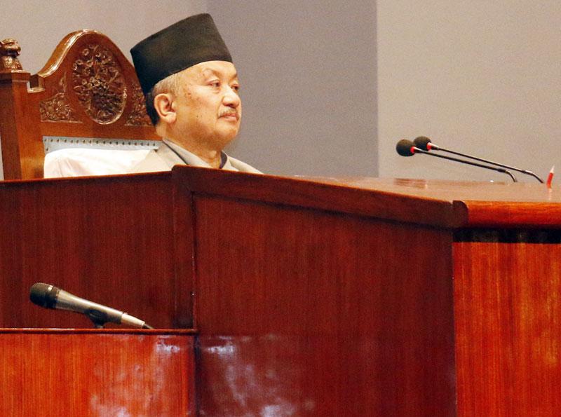 CA Chairman Subas Chandra Nembang chairs the CA meeting on Wednesday, September 9, 2011. Photo: RSS