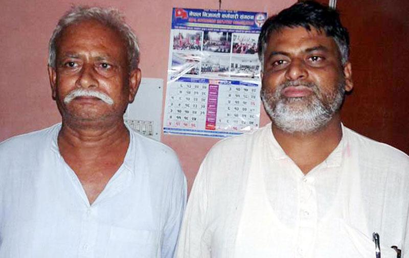 Tarai Madhes Democratic Party General Secretary Jitendra Sonal (right) and Bara district chairman Nawal Kishor Singh. Photo: Ram Sarraf/File
