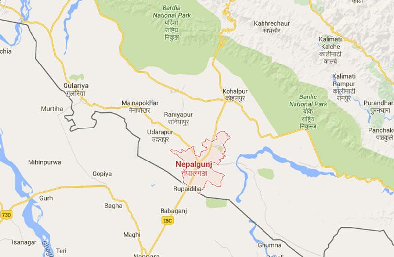 Nepalgunj-Rupaidiha border. Map: Google