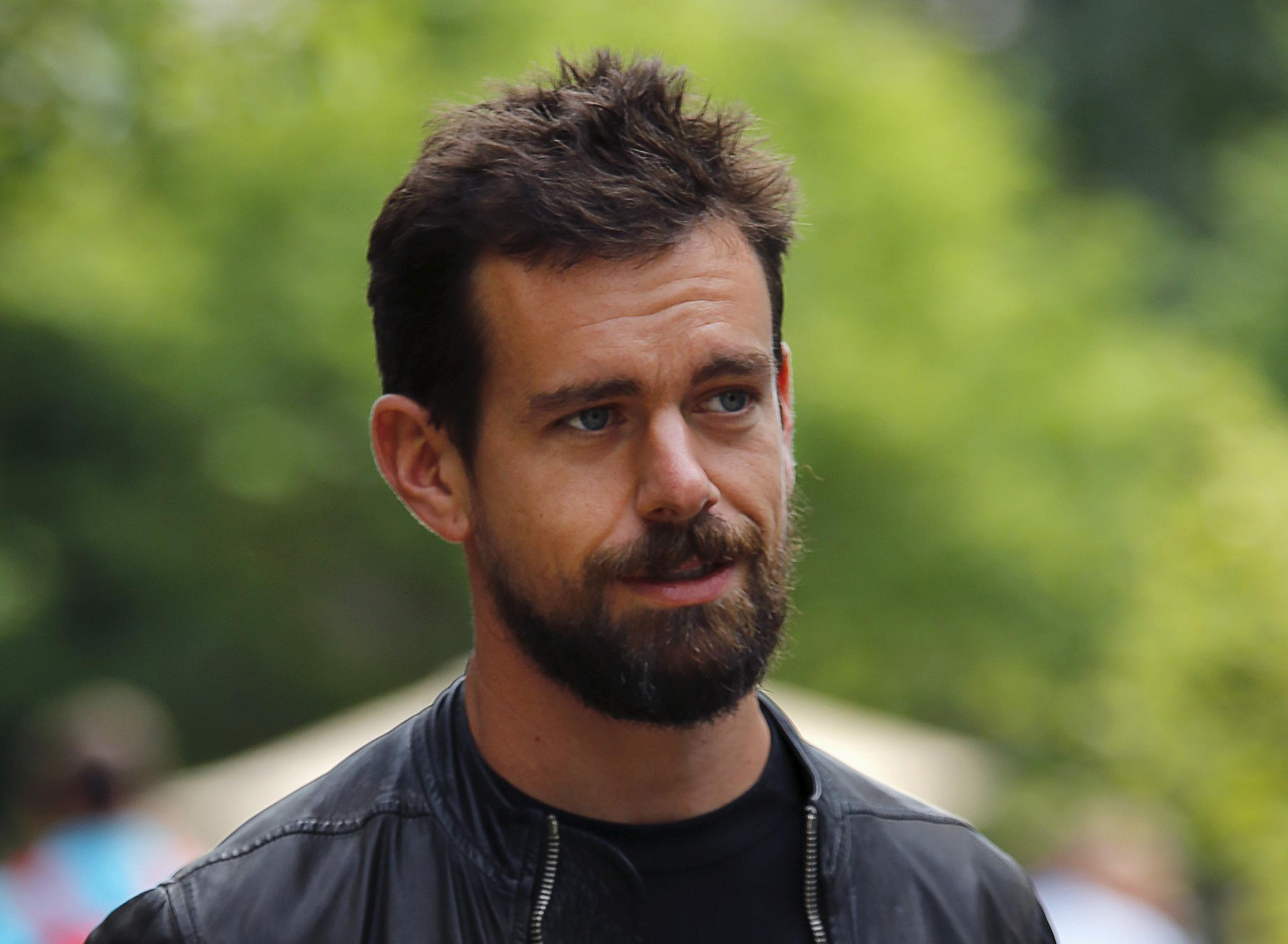 Jack Dorsey, CEO of Twitter, goes for a walk on the first day of the annual Allen and Co. media conference in Sun Valley, Idaho in this file photo from July 8, 2015.Photo: Reuters/ File