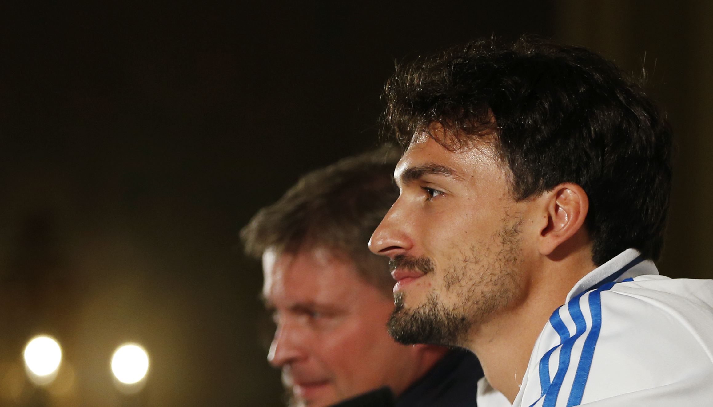 Football - Germany Press Conference - Intercontinental Hotel, Dublin, Republic of Ireland - 7/10/15nGermany's Mats Hummels during the press conferencenAction Images via Reuters / Andrew CouldridgenLivepicnEDITORIAL USE ONLY.