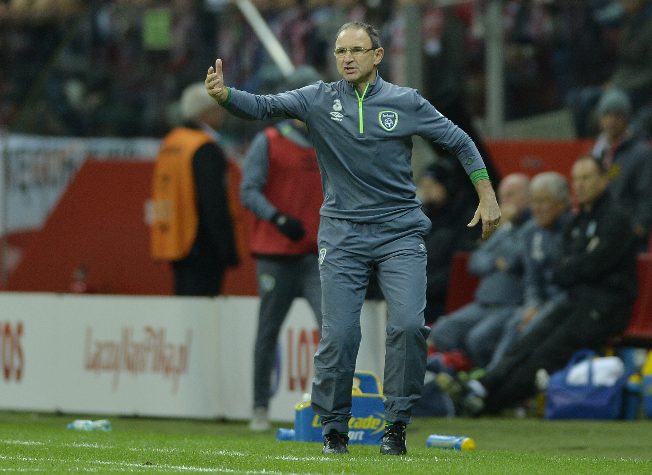 Football - Poland v Republic of Ireland - UEFA Euro 2016 Qualifying Group D - Stadion Narodowy, Warsaw, Poland - 11/10/15nIreland manager Martin O'Neill nAction Images via Reuters / Adam HoltnLivepicnEDITORIAL USE ONLY.