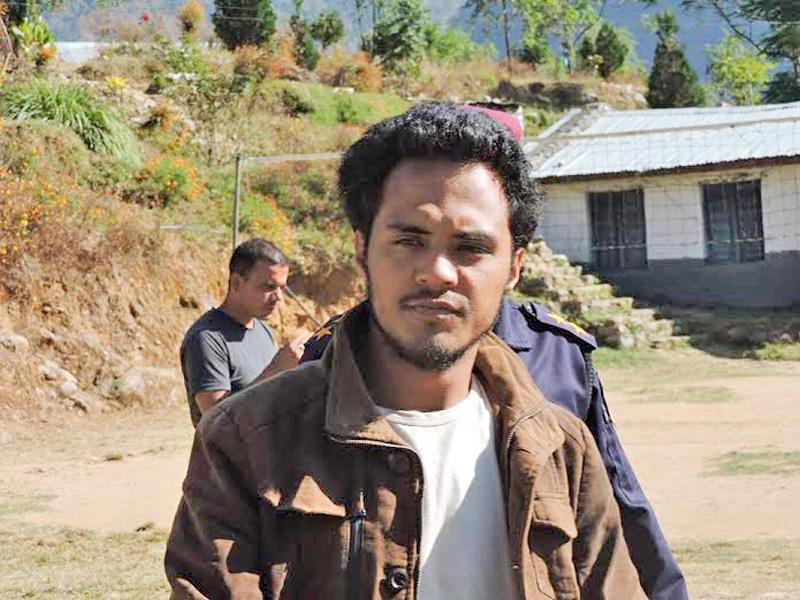 Absconding Bimal Shahi arrested by Central Investigation Bureau from New Baneshwor of Kathmandu. Photo: Prakash Singh/File