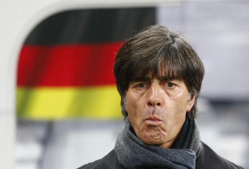 Germany coach Joachim Loew stands on the pitch prior to the Euro 2016 group D qualification soccer match against Georgia in Leipzig, Germany October 11, 2015.  Reuters