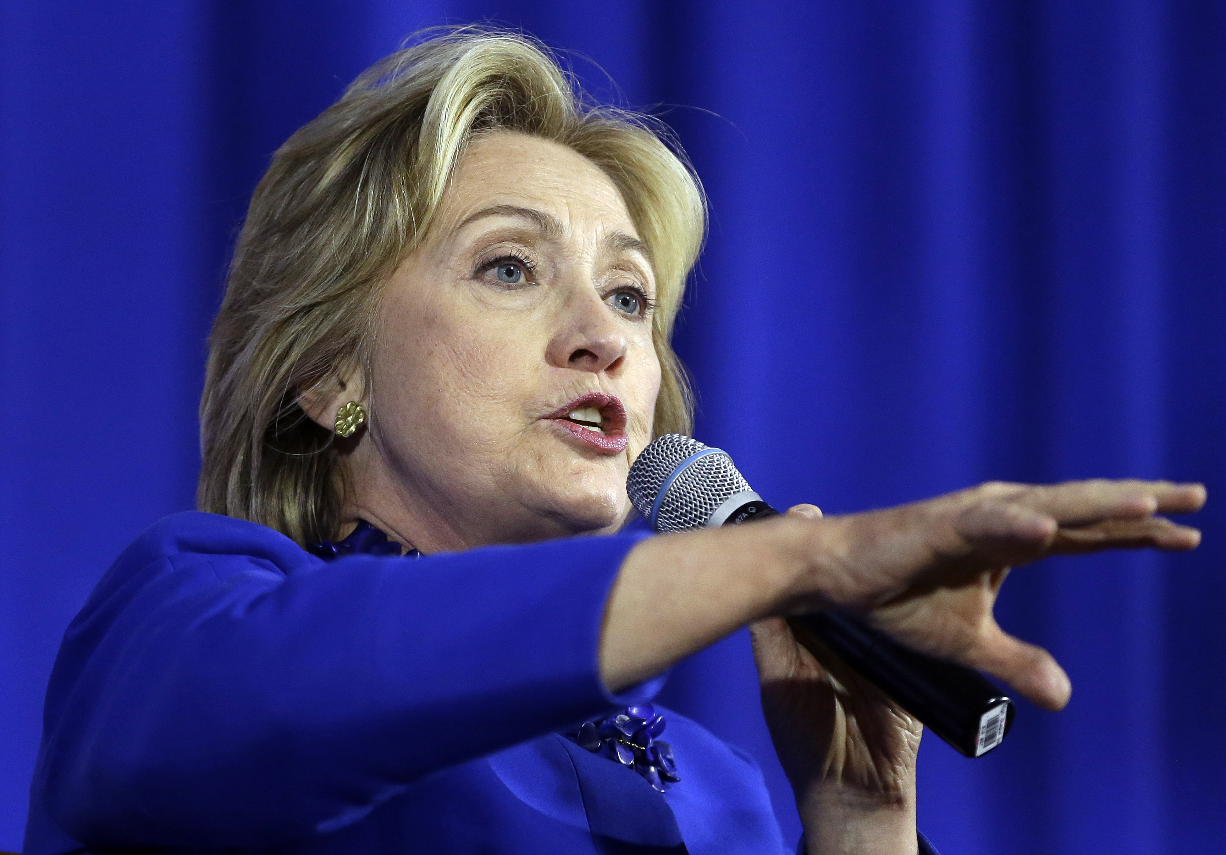 Democratic presidential candidate Hillary Rodham Clinton speaks during a forum on substance abuse, Thursday, October 1, 2015, in Boston. Photo: AP