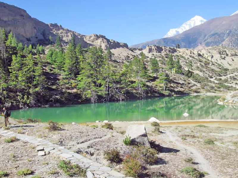 Dhumba Lake located at Thini of Jomsom VDC-9 in Mustang district, on Friday, October 16, 2015. Photo: Rishi Ram Baral