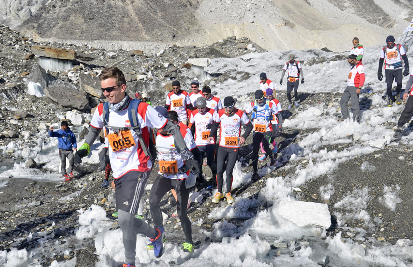 Athletes in the Everest Marathon 2015 on Monday, October 5, 2015. Photo: Himalayan Expedition
