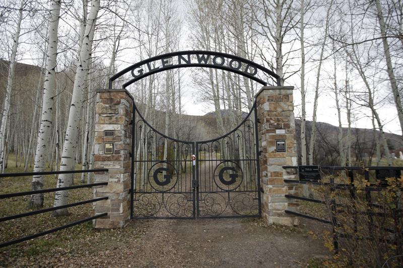 The Glenwood Cemetery gate is shown Thursday, October 29, 2015, in Park City, Utah. Photo: AP