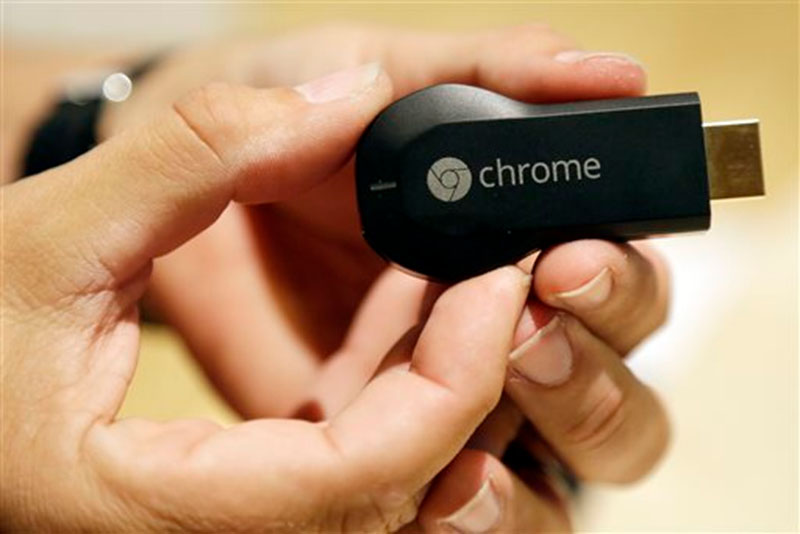Displaying Google Chromecast device in San Francisco on July 24, 2013. Photo: AP