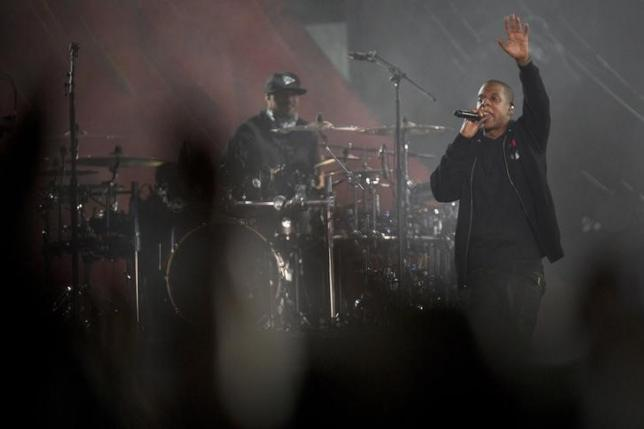 Jay-Z performs on stage during the Global Citizen Festival concert in Central Park in New York September 27, 2014. REUTERS/Carlo Allegri/Files