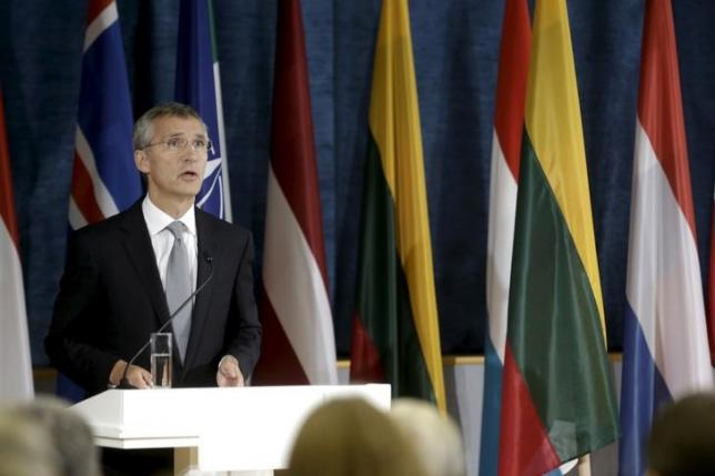 NATO Secretary General Jens Stoltenberg speaks during a news conference after the NATO Force Integration Unit inauguration in Vilnius, Lithuania, September 3, 2015. REUTERS/Ints Kalnins