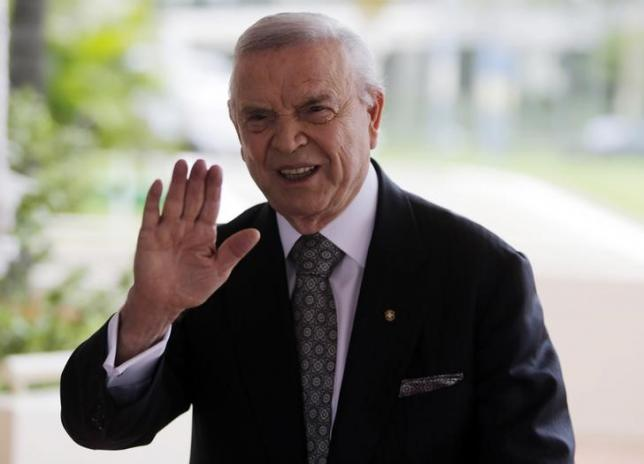 Brazilian Football Confederation (CBF) president Jose Maria Marin arrives CONMEBOL executive committee meeting, at the Conmebol headquarters in Luque, on the outskirts of Asuncion, December 2, 2014. REUTERS/Jorge Adorno/Files