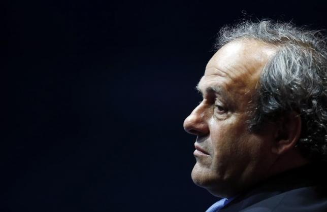 UEFA President Michel Platini is seen during the draw ceremony for the 2014/2015 Champions League soccer competition at Monaco's Grimaldi Forum in Monte Carlo August 28, 2014.  REUTERS/Eric Gaillard