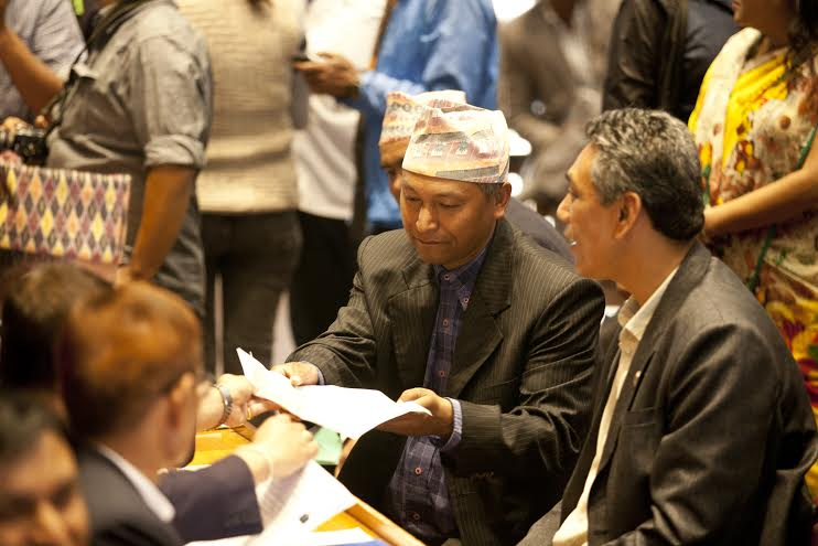 Nepal Workers Peasants Party (NWPP) central member Narayan Maharjan. Photo: Skanda Gautam/ THT