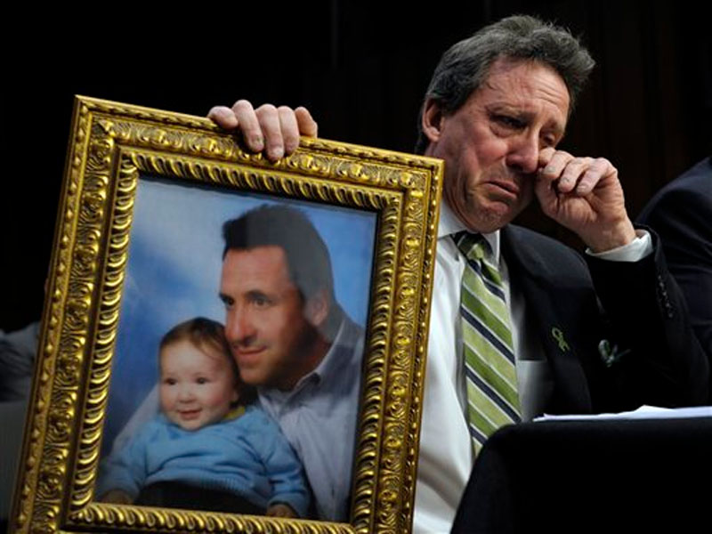 Neil Heslin, the father of Jesse, a six-year-old boy who was killed in the Sandy Hook massacre in Newtown, Connecticut on Wednesday, February 27, 2013. Photo: AP
