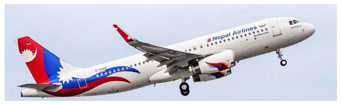 A Nepal Airlines aircraft. File Photo