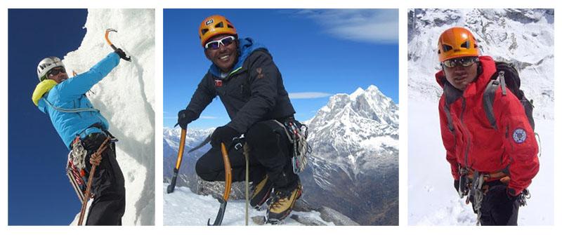 Tashi Sherpa (Left), Dawa Gyalje Sherpa and Nima Tenji Sherpa-