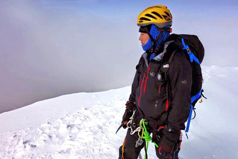 Nobukazu Kuriki on Mount Everest