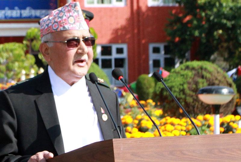 Prime Minister KP Sharma Oli. Photo: RSS