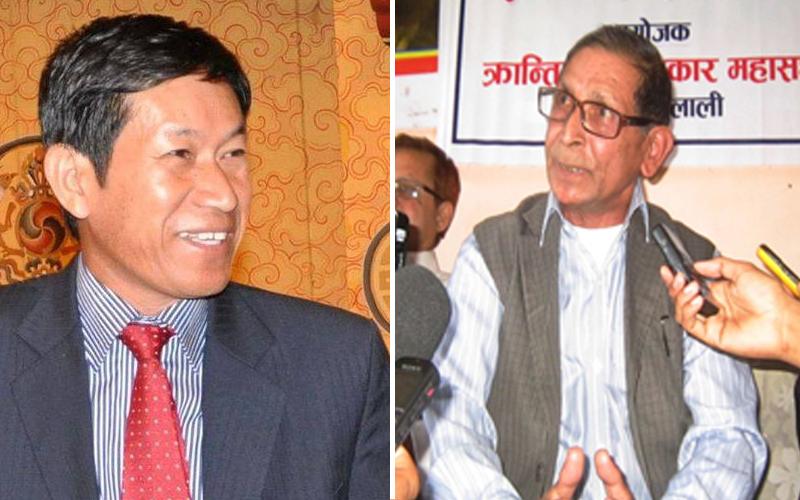 Pari Thapa-Mohan Baidya. Photo: Pari Thapa Facebook/THT