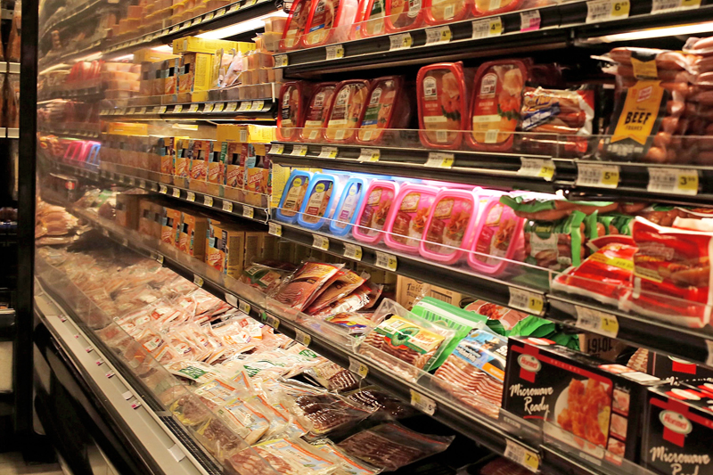 Processed meats are displayed in a grocery store on October 26, 2015 in Miami, Florida. Photo: AFP