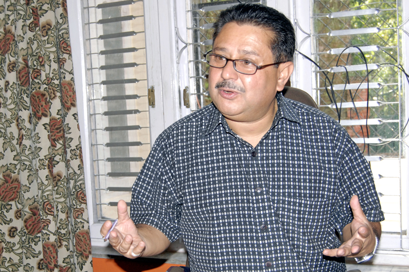 Rajan Sharma, former President of Nepal Freight Forwardersu2019 Association. Photo: Bal Krishna Thapa/ THT