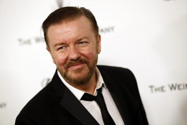 Actor Ricky Gervais arrives at the Weinstein Netflix after party after the 72nd annual Golden Globe Awards in Beverly Hills, California January 11, 2015.  REUTERS/Patrick T. Fallon