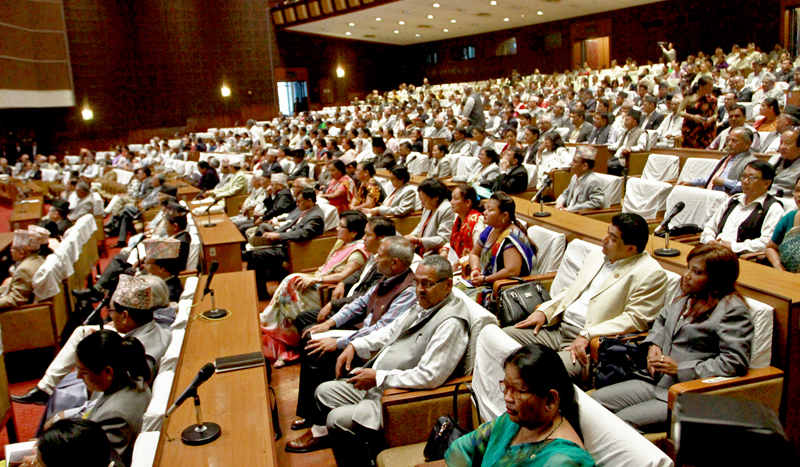 Lawmakers taking part in the transformed Parliament on Friday, October 02, 2015. Photo: RSS