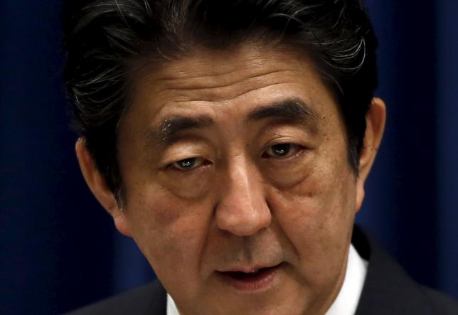 Japan's Prime Minister Shinzo Abe speaks during a news conference at his official residence in Tokyo, Japan, October 6, 2015. REUTERS/Yuya Shino