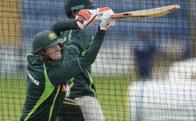 Cricket - Australia Nets - SWALEC Stadium, Cardiff, Wales - 6/7/15nAustralia's Steven Smith during a training session. Action Images via Reuters / Philip Brown. Livepic