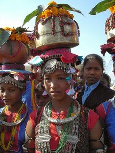 FILE - Tharu women celebrating Jitiya Pawaiin. Photo: Voice of Tharus