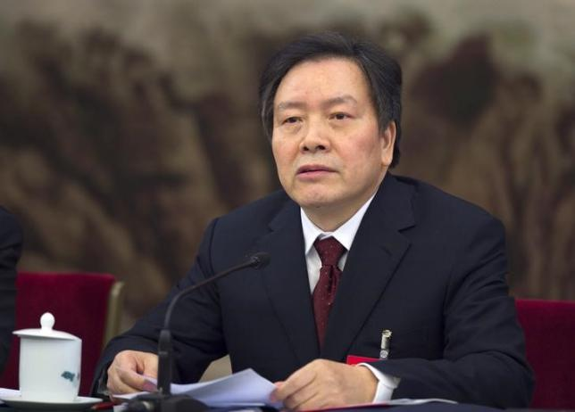 Communist Party Secretary of Hebei province Zhou Benshun speaks at a session of the National People's Congress (NPC) in Beijing, China, in this March 7, 2015 picture. REUTERS/Stringer CHINA OUT/Files