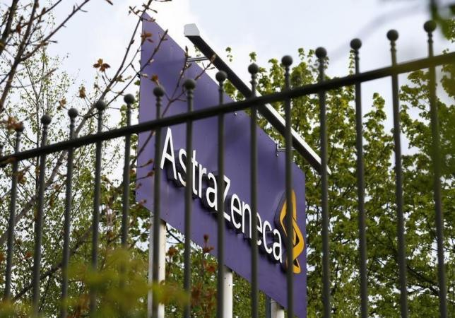 A sign is seen at an AstraZeneca site in Macclesfield, central England April 28, 2014.  Photo: Reuters