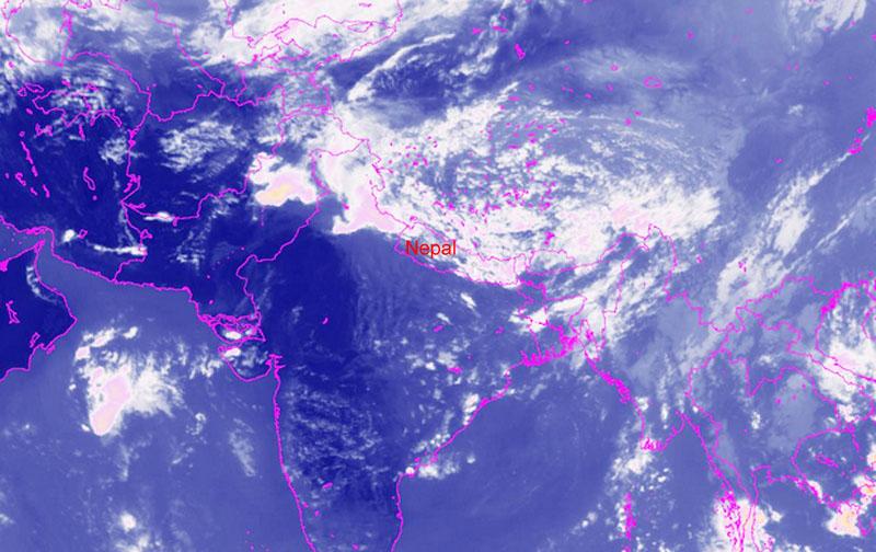Satellite image of sky over Nepal. Photo: MFD
