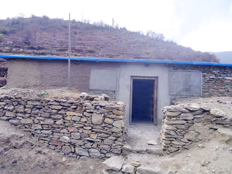 A cold store recently built in Pandusen VDC to store apples, in Bajura district, on Friday, October 16, 2015. Photo: Prakash Singh