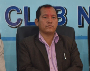 Newly appointed Minister for Commerce and Supplies Ganesh Man Pun at the Reporters' Club in the Capital, on Monday, October 19, 2015. Photo: Reporters' Club