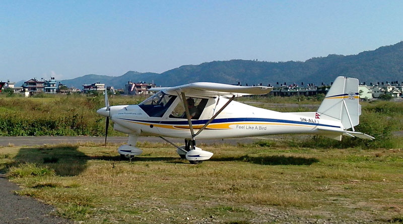 FILE: The ultralight aircraft that went missing over Pokhara sky on Thursday, October 8, 2015. Photo: Rup Narayan Dhakal