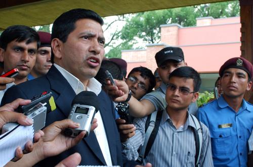 UCPN-Maoist Vice-Chairman Narayan Kaji Shrestha. Photo: THT/File