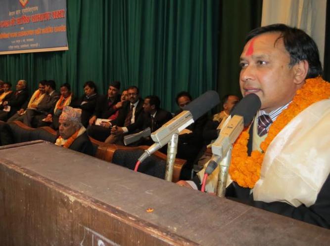 Nepal Bar Association President Hari Krishna Karki. Photo: NBA