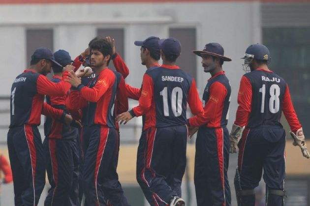 Nepal dismissed Ireland for 184 in 47 overs to win by three wickets and 3.4 overs to spare. Photo: ICCn